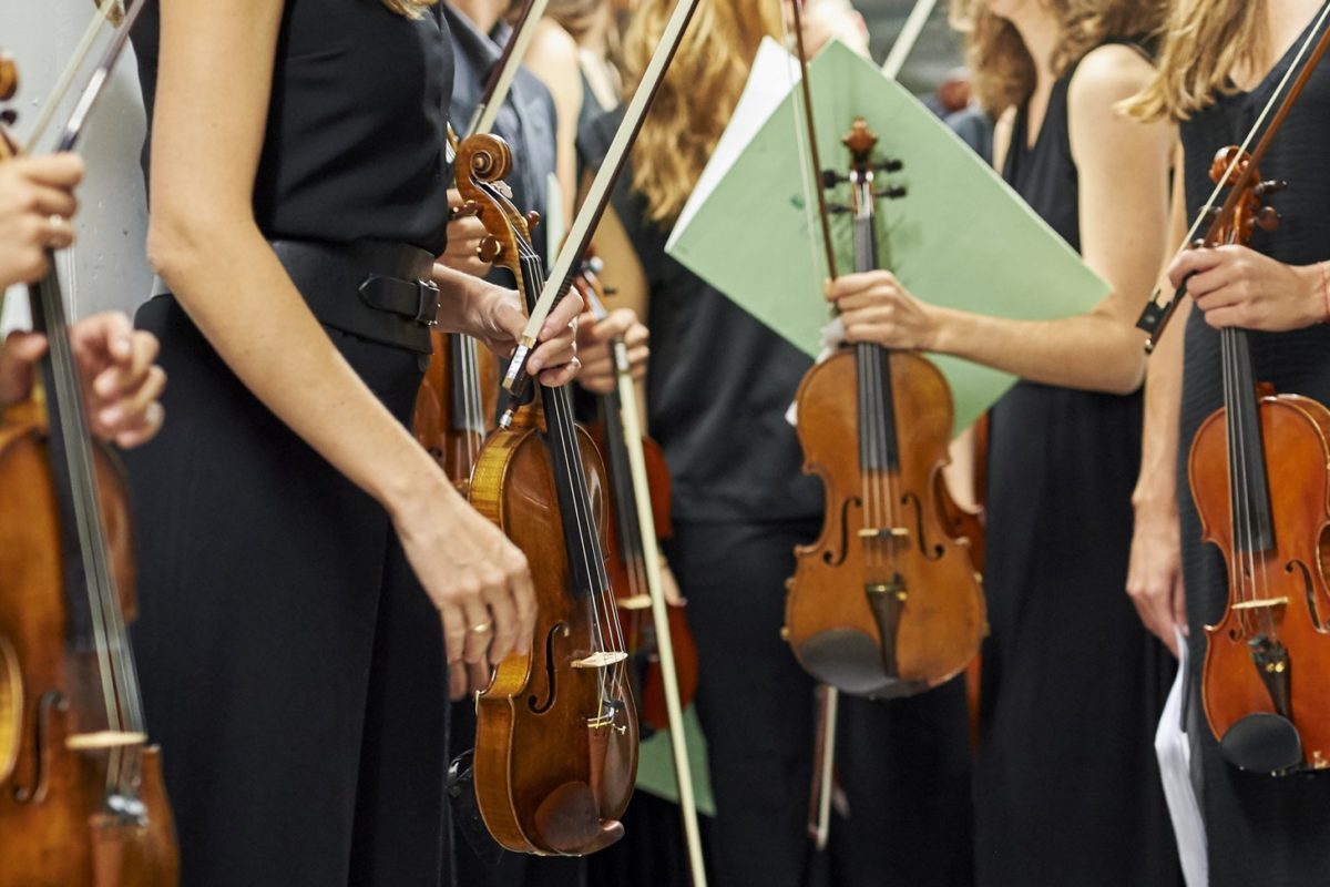 Backstage vor dem Konzert FreundesKreis am Davos Festival - young artists in concert 2015 - Kreisverkehr